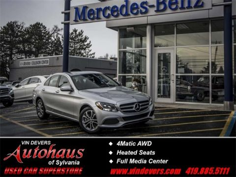 Certified Pre-Owned 2018 Mercedes-Benz C-Class C  300 AWD 4MATIC®